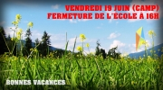 Camp Boute-en-train – 19 juin (Départ 7 h 50 / Retour 15 h 30)… FERMETURE 16 H (pas de SDG)