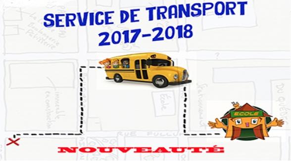 NOUVEAUTÉ - SERVICE DE TRANSPORT SCOLAIRE EN 2017-2018