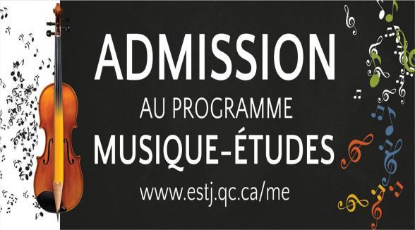 RENCONTRE D'INFORMATION POUR LE PROGRAMME MUSIQUE-ÉTUDES