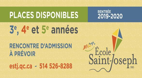 PLACES DISPONIBLES POUR LA RENTRÉE 2019-2020